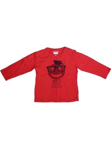 T-shirt manches longues garçon LEVI'S rouge 3 ans hiver #1229456_1
