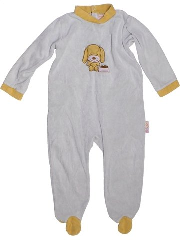 Pyjama 1 pièce garçon LES KINOUSSES gris 2 ans hiver #1229610_1