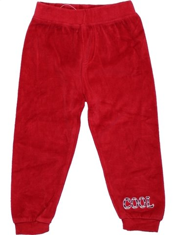 Pantalon garçon LUPILU rouge 2 ans hiver #1233005_1