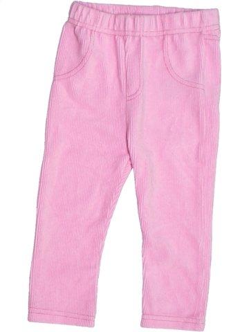 Pantalon fille ERGEE rose 2 ans hiver #1233588_1