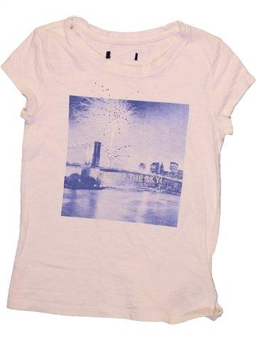 T-shirt manches courtes fille GAP violet 7 ans été #1233841_1