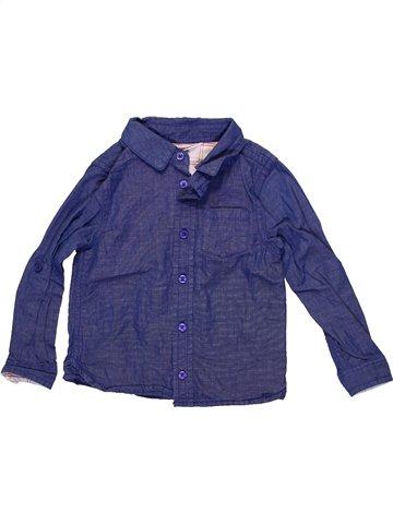 Chemise manches longues garçon JOHN LEWIS bleu 2 ans hiver #1233977_1