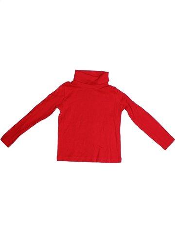 T-shirt col roulé garçon LUPILU rouge 4 ans hiver #1234249_1