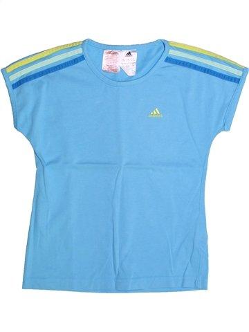 T-shirt manches courtes fille ADIDAS bleu 10 ans été #1235980_1
