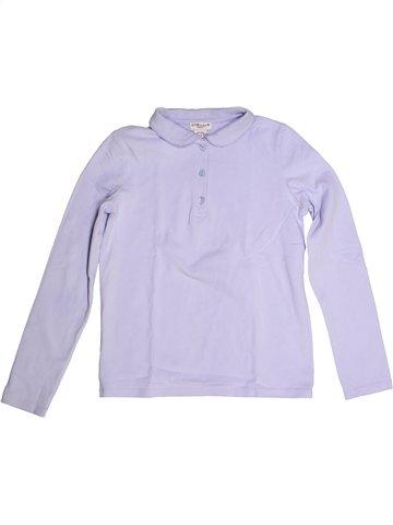 Polo de manga larga niña CYRILLUS violeta 10 años invierno #1236231_1