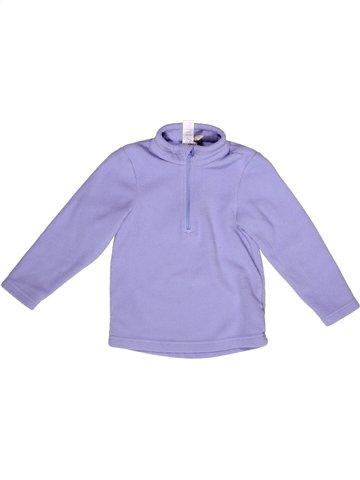 Pull fille QUECHUA violet 3 ans hiver #1237487_1