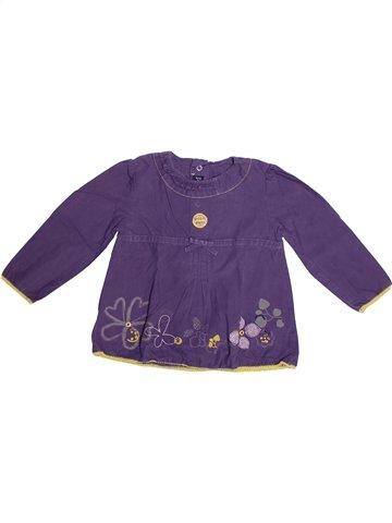 Blouse manches longues fille TERRE DE MARINS violet 2 ans hiver #1239038_1