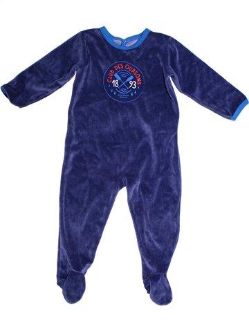 Pijama de 1 pieza niño PETIT BATEAU azul 2 años invierno #1239566_1