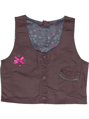 Blusa de manga corta niña GEMO gris 8 años verano #1240199_1