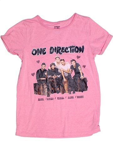T-shirt manches courtes fille ONE DIRECTION rose 12 ans été #1240943_1