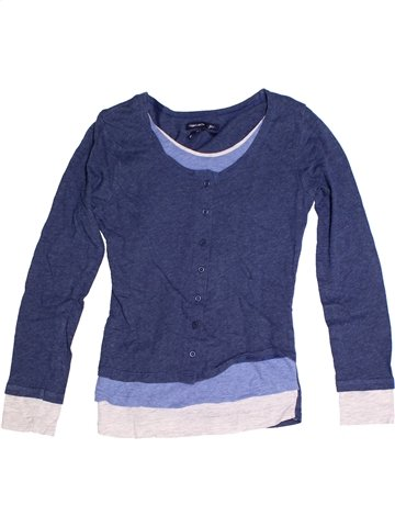 T-shirt manches longues fille TEDDY SMITH bleu 12 ans hiver #1243918_1