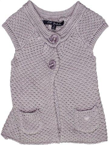 Gilet fille LILI GAUFRETTE violet 3 ans hiver #1245095_1