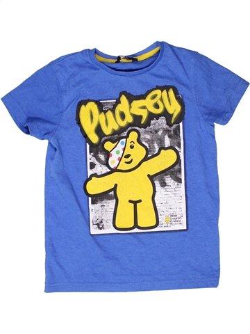 T-shirt manches courtes garçon GEORGE bleu 8 ans été #1249313_1