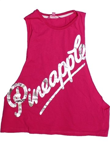 T-shirt sans manches fille PINEAPPLE rose 9 ans été #1249739_1