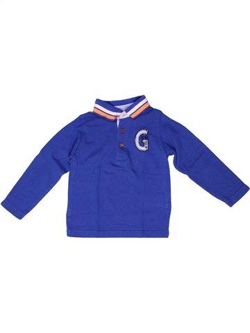 Polo manches longues garçon GRAIN DE BLÉ bleu 2 ans hiver #1250816_1