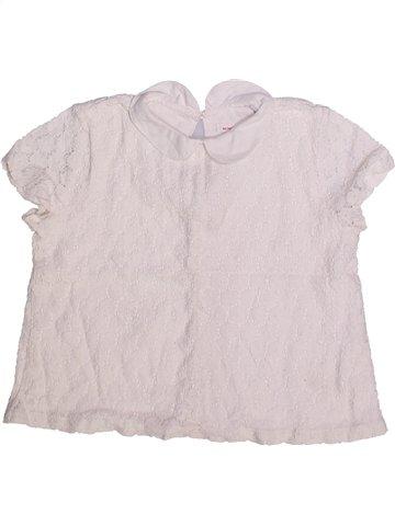 Blouse manches courtes fille MONOPRIX blanc 5 ans été #1252184_1