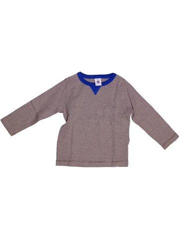 T-shirt manches longues garçon PETIT BATEAU gris 3 ans hiver #1254381_1