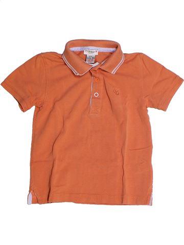Polo de manga corta niño CYRILLUS naranja 3 años verano #1255865_1