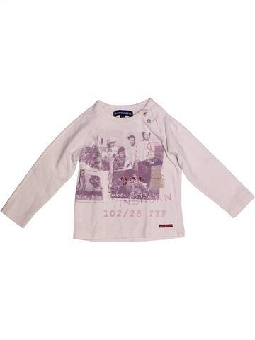T-shirt manches longues fille JEAN BOURGET blanc 2 ans hiver #1256619_1
