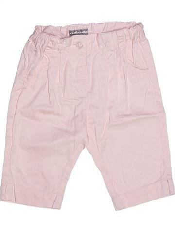 Pantalón niña VERTBAUDET blanco 2 años verano #1257027_1