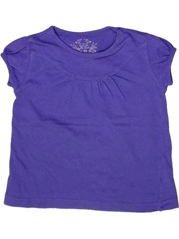 T-shirt manches courtes fille CFK violet 4 ans été #1257874_1