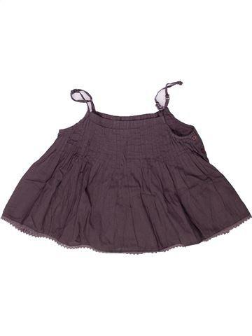 Blouse manches courtes fille 3 POMMES violet 8 ans été #1258408_1