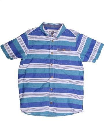 Chemise manches courtes garçon MATALAN bleu 9 ans été #1258878_1