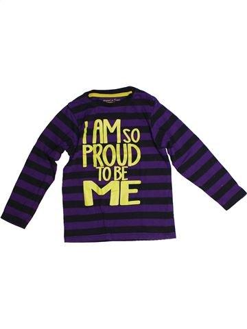 T-shirt manches longues garçon LH BY LA HALLE violet 5 ans hiver #1259823_1