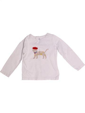 T-shirt manches longues fille JACADI blanc 3 ans hiver #1259953_1