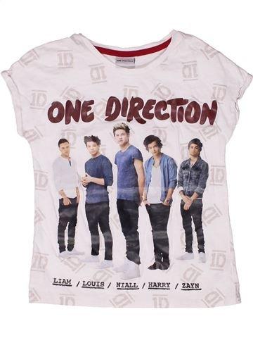 T-shirt manches courtes fille ONE DIRECTION blanc 9 ans été #1260134_1