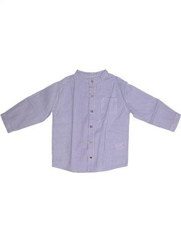 Chemise manches longues garçon BOUT'CHOU violet 2 ans hiver #1260293_1