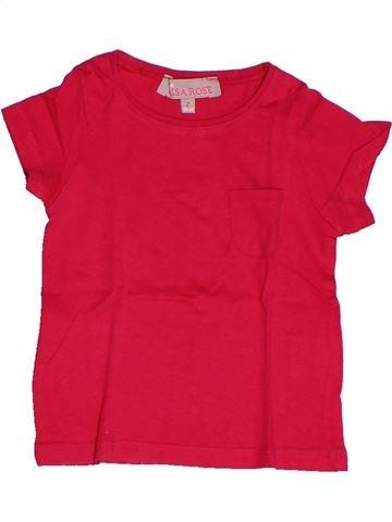 T-shirt manches courtes fille LISA ROSE rouge 2 ans été #1260322_1