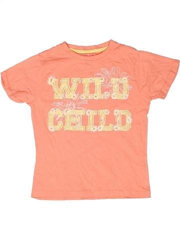 T-shirt manches courtes fille LOVE ME beige 8 ans été #1261479_1