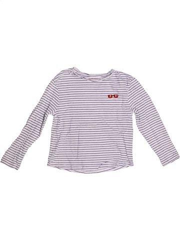 Camiseta de manga larga niña MONOPRIX violeta 5 años invierno #1262002_1