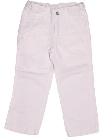 Pantalón niña 3 POMMES blanco 3 años verano #1262098_1
