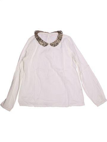 Blusa de manga larga niña MONOPRIX blanco 14 años invierno #1262501_1