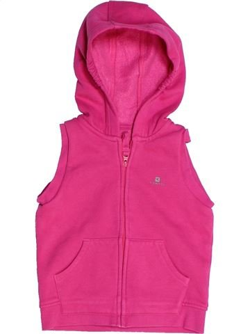 Sweat fille DOMYOS rose 2 ans hiver #1262562_1