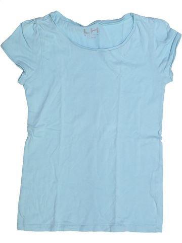 T-shirt manches courtes fille LH BY LA HALLE bleu 10 ans été #1263124_1