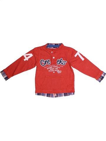 T-shirt manches longues garçon CREEKS rouge 3 ans hiver #1264177_1