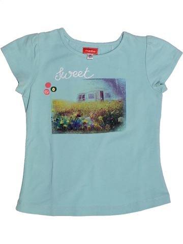 Camiseta de manga corta niña MARÈSE azul 3 años verano #1264212_1
