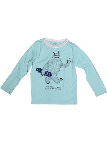 T-shirt manches longues garçon MONOPRIX bleu 5 ans hiver #1264952_1