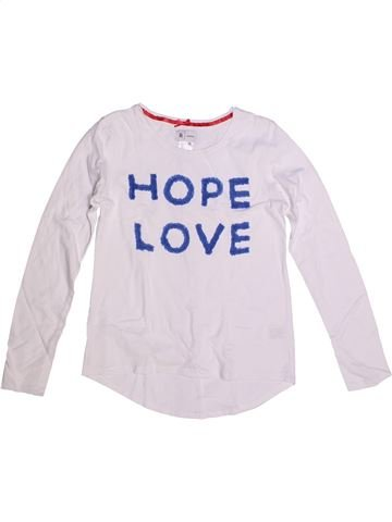 T-shirt manches longues fille LA REDOUTE CRÉATION blanc 10 ans hiver #1265027_1