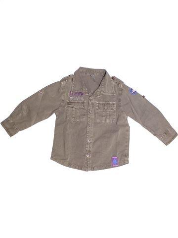 Camisa de manga larga niño GEMO marrón 4 años invierno #1266377_1