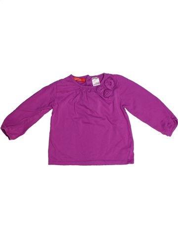 T-shirt manches longues fille LA REDOUTE CRÉATION rose 2 ans hiver #1266934_1