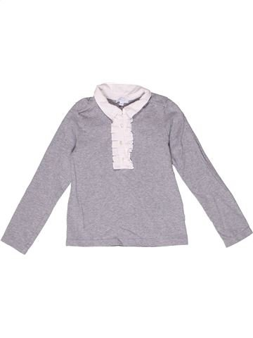 Polo manches longues fille JACADI gris 6 ans hiver #1267247_1