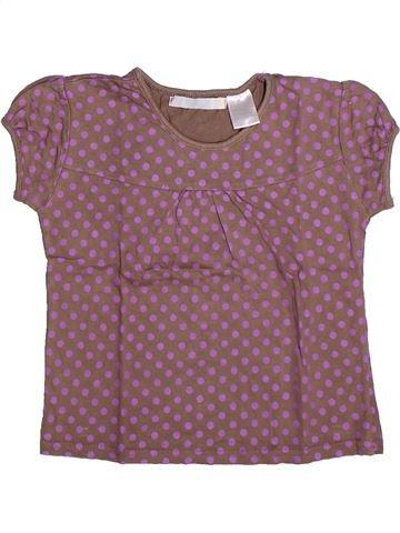 Camiseta de manga corta niña LA REDOUTE CRÉATION violeta 6 años verano #1267380_1