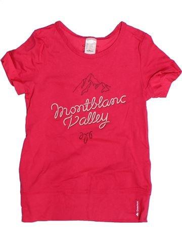 T-shirt manches courtes fille QUECHUA rouge 10 ans été #1267790_1