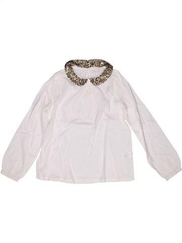 Blusa de manga larga niña MONOPRIX blanco 12 años invierno #1267887_1