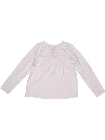 T-shirt manches longues fille MONOPRIX blanc 6 ans hiver #1267939_1