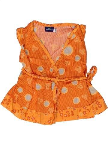 Blouse manches courtes fille SERGENT MAJOR orange 12 mois été #1268289_1